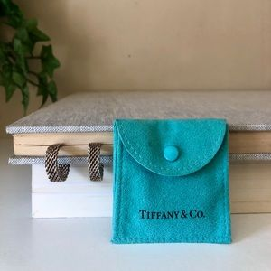 Tiffany & Co Sterling Silver Somerset Mesh Hoops